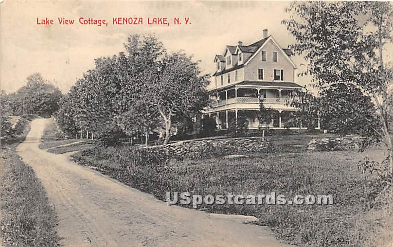 Lake View Cottage - Kenoza Lake, New York NY Postcard