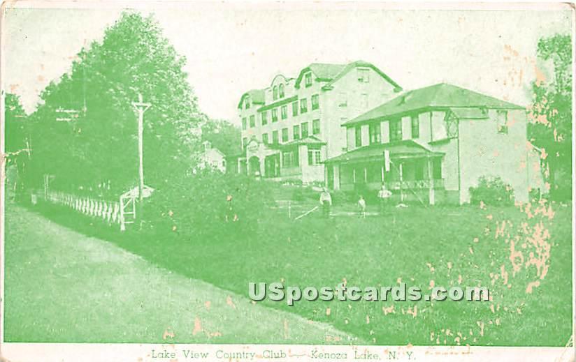 Lake View Country Club - Kenoza Lake, New York NY Postcard