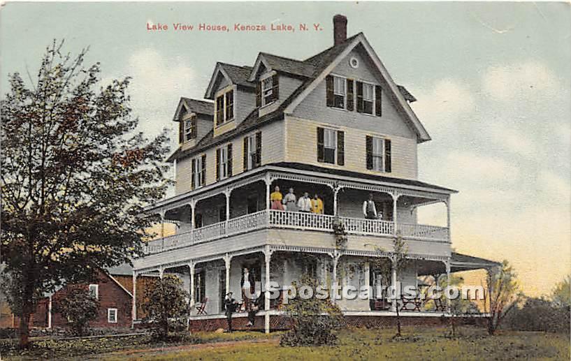 Lake View House - Kenoza Lake, New York NY Postcard