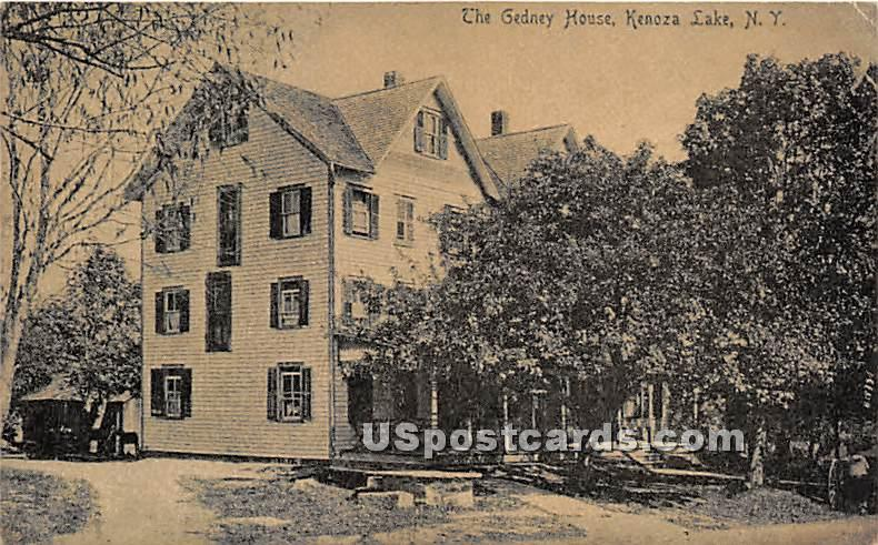 The Gedney House - Kenoza Lake, New York NY Postcard