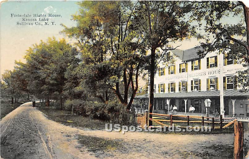 Fosterdale Heights House - Kenoza Lake, New York NY Postcard