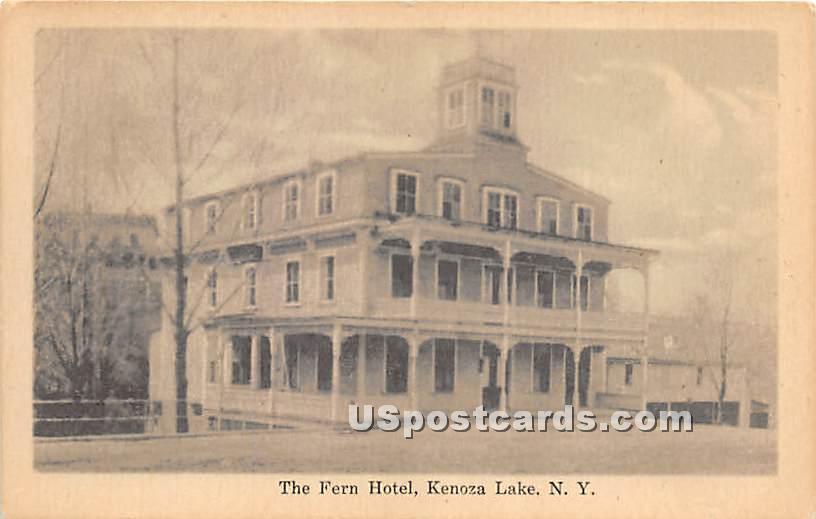 The Fern Hotel - Kenoza Lake, New York NY Postcard