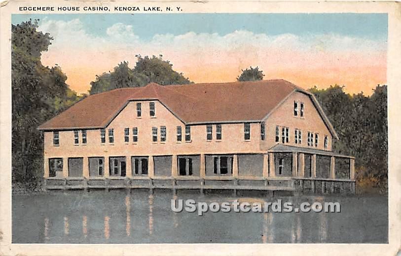 Edgemere House Casino - Kenoza Lake, New York NY Postcard