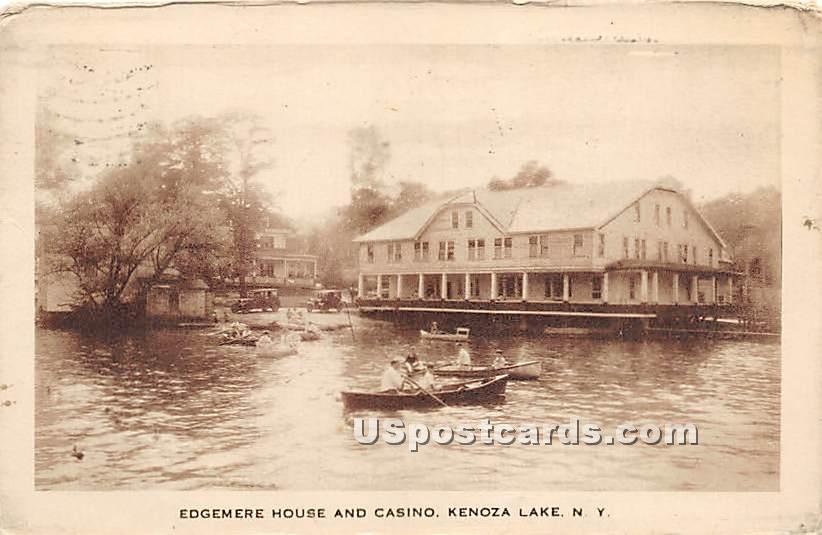 Edgemere House Casino - Kenoza Lake, New York NY Postcard