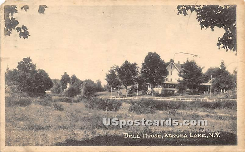 Dell House - Kenoza Lake, New York NY Postcard
