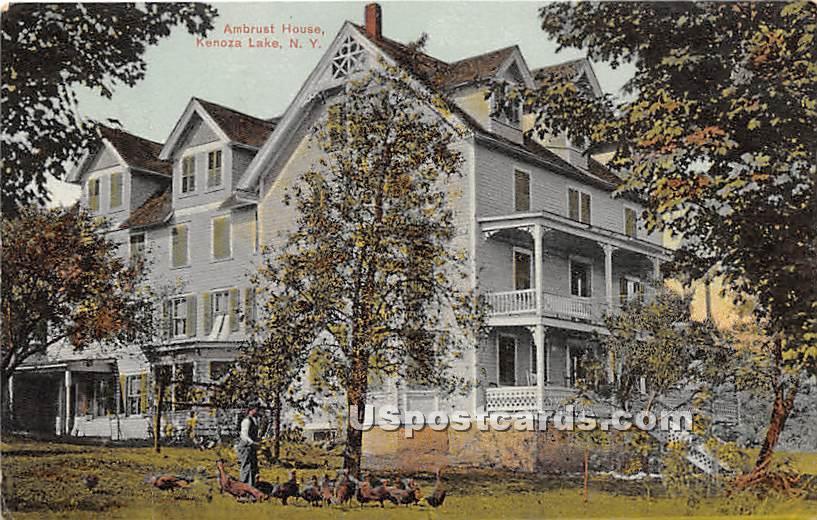 Ambrust House - Kenoza Lake, New York NY Postcard