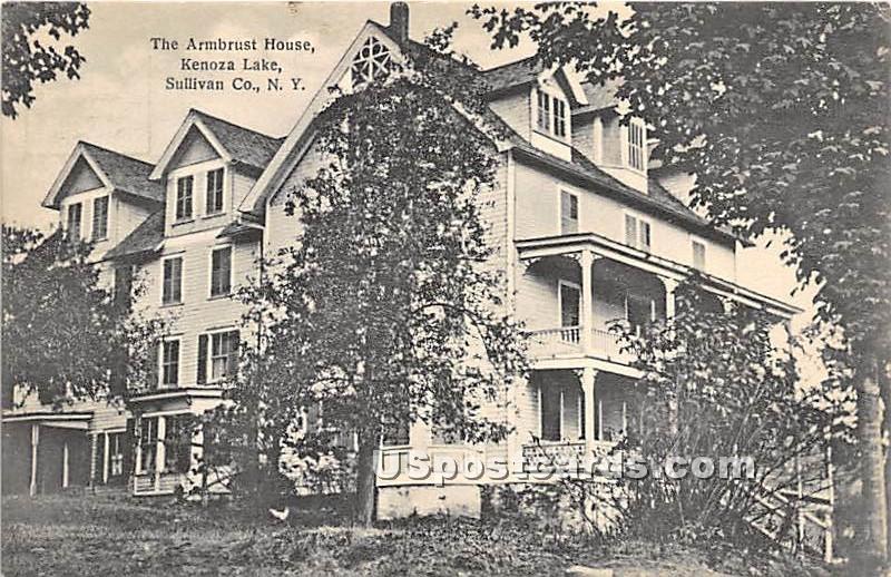 Armbrust House - Kenoza Lake, New York NY Postcard