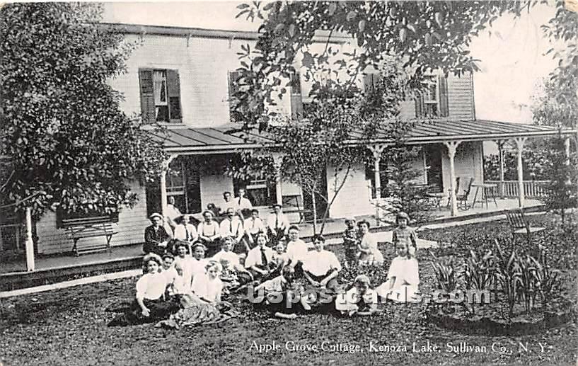 Apple Grove Cottage - Kenoza Lake, New York NY Postcard
