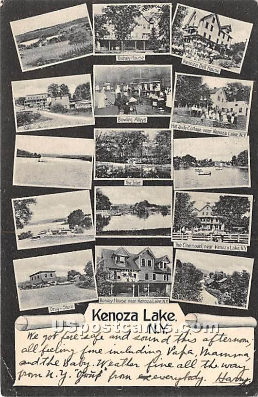 Gidney House, Dell House - Kenoza Lake, New York NY Postcard