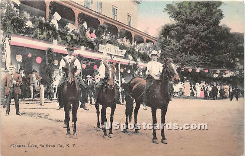 Horses - Kenoza Lake, New York NY Postcard