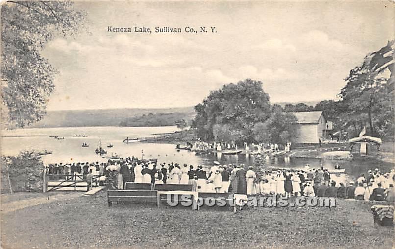 Carnival Day - Kenoza Lake, New York NY Postcard