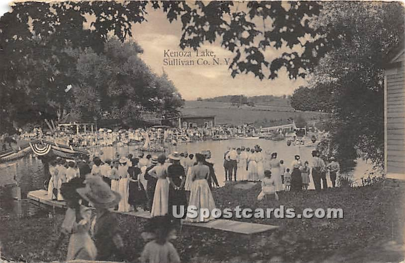 Carnival Day - Kenoza Lake, New York NY Postcard