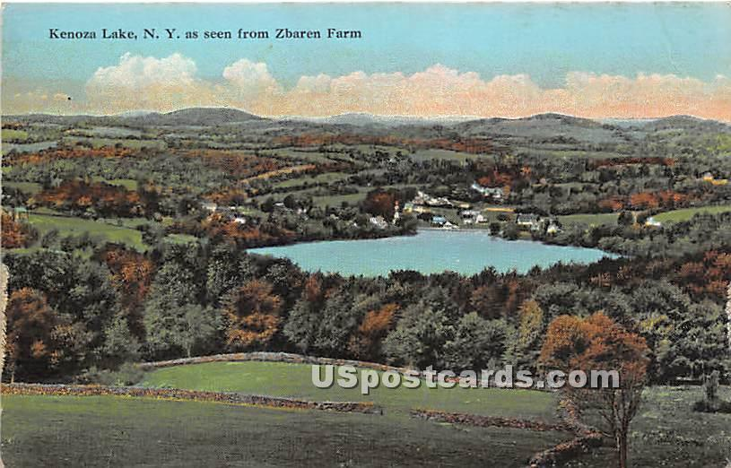 Seen from Zbaren Farm - Kenoza Lake, New York NY Postcard