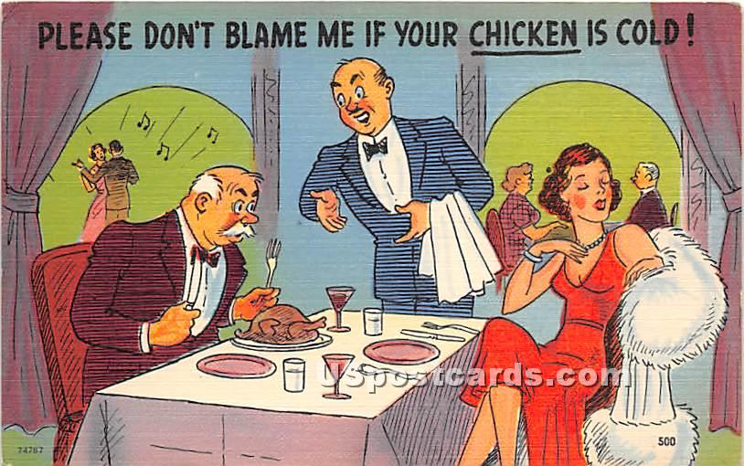 Please don't blame me if your chicken is cold - Kenoza Lake, New York NY Postcard