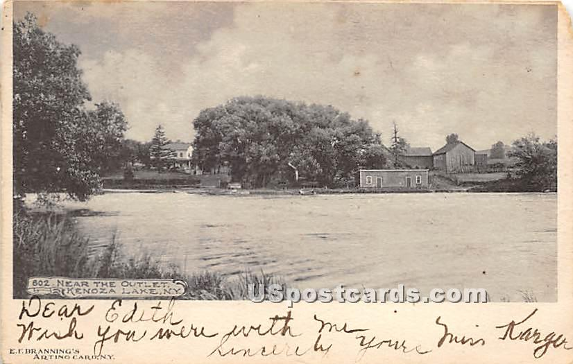 Near the Outlet - Kenoza Lake, New York NY Postcard