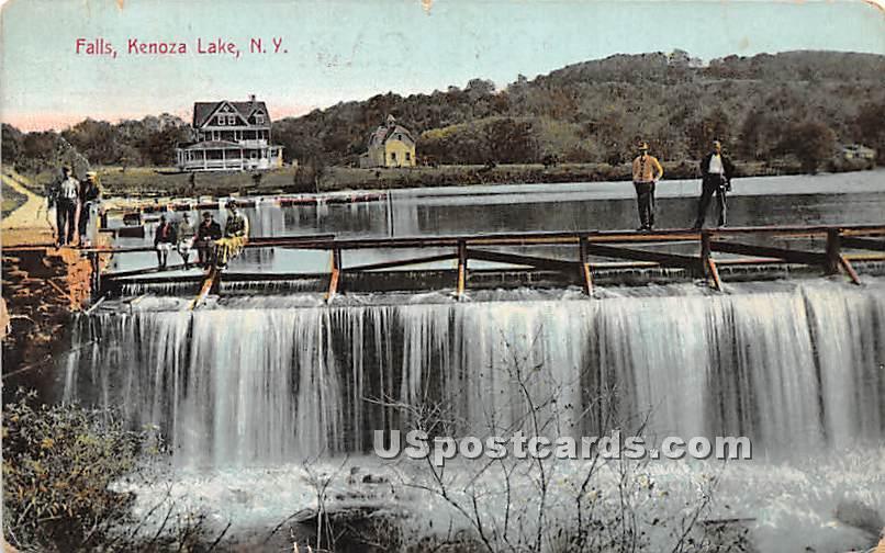 The Falls - Kenoza Lake, New York NY Postcard