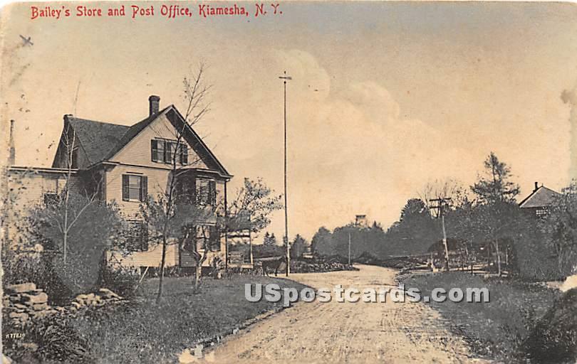 Bailey's Store and Post Office - Kiamesha Lake, New York NY Postcard