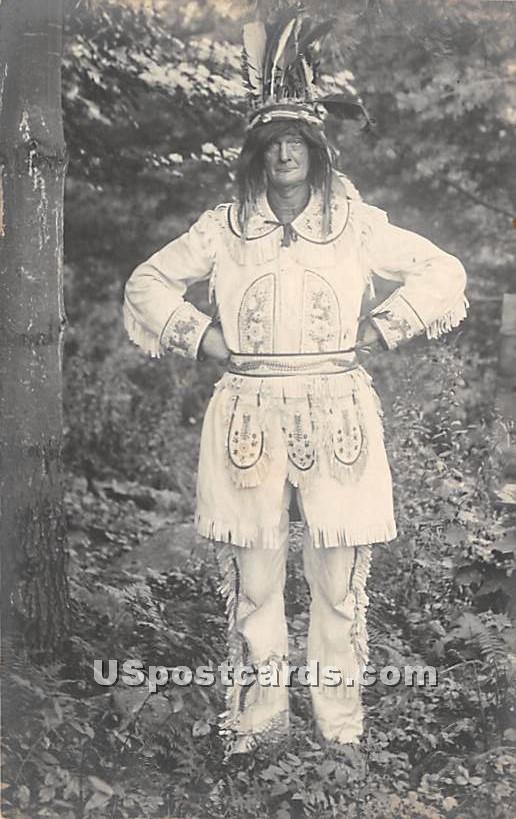 Indian - Kiamesha Lake, New York NY Postcard