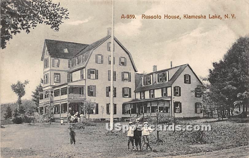 Russolo House - Kiamesha Lake, New York NY Postcard