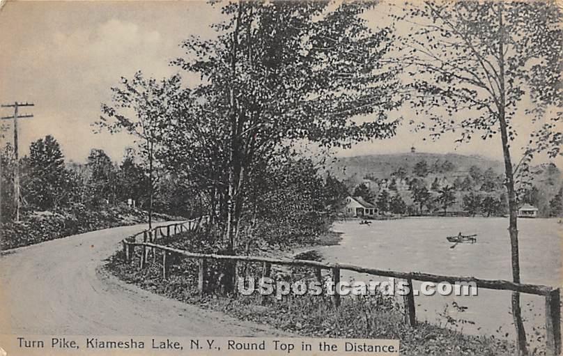 Turnpike - Kiamesha Lake, New York NY Postcard