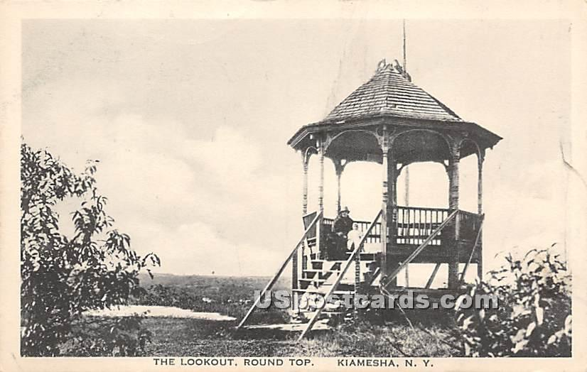 The Lookout - Kiamesha Lake, New York NY Postcard