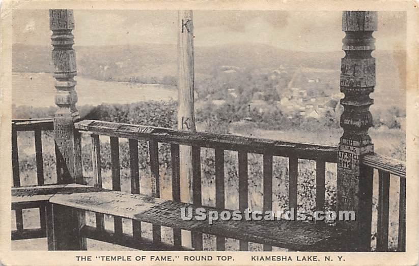 Temple of Fame - Kiamesha Lake, New York NY Postcard