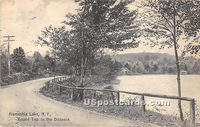 Round Top in Distance - Kiamesha Lake, New York NY Postcard