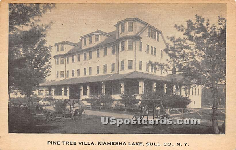 Pine Tree Villa - Kiamesha Lake, New York NY Postcard