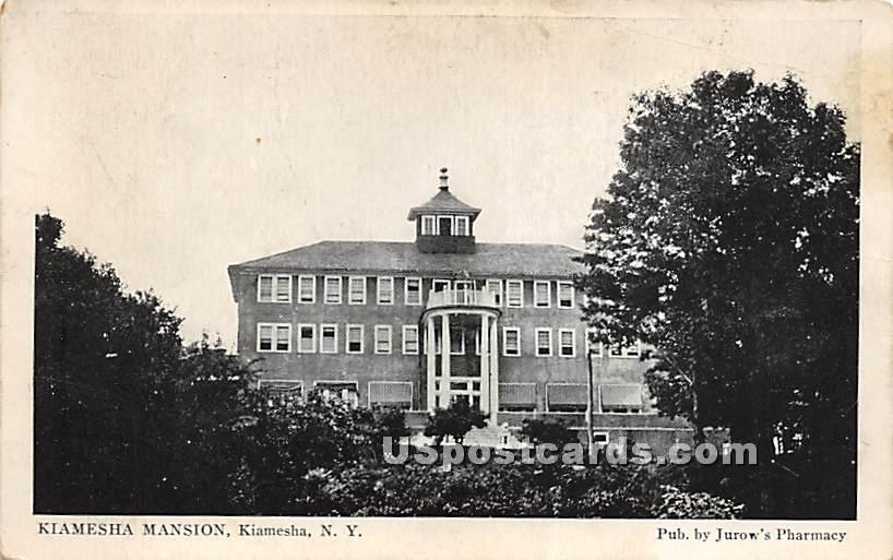 Kiamesha Mansion - Kiamesha Lake, New York NY Postcard
