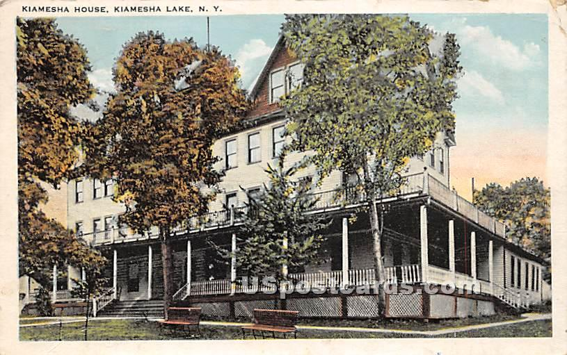 Kiamesha House - Kiamesha Lake, New York NY Postcard