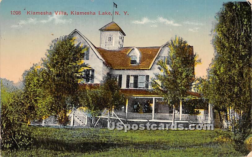 Kiamesha Villa - Kiamesha Lake, New York NY Postcard