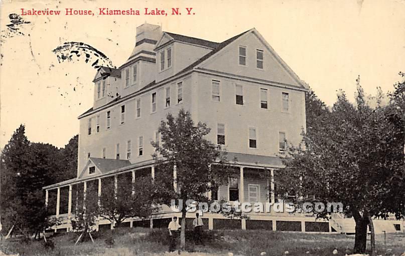 Lakeview House - Kiamesha Lake, New York NY Postcard