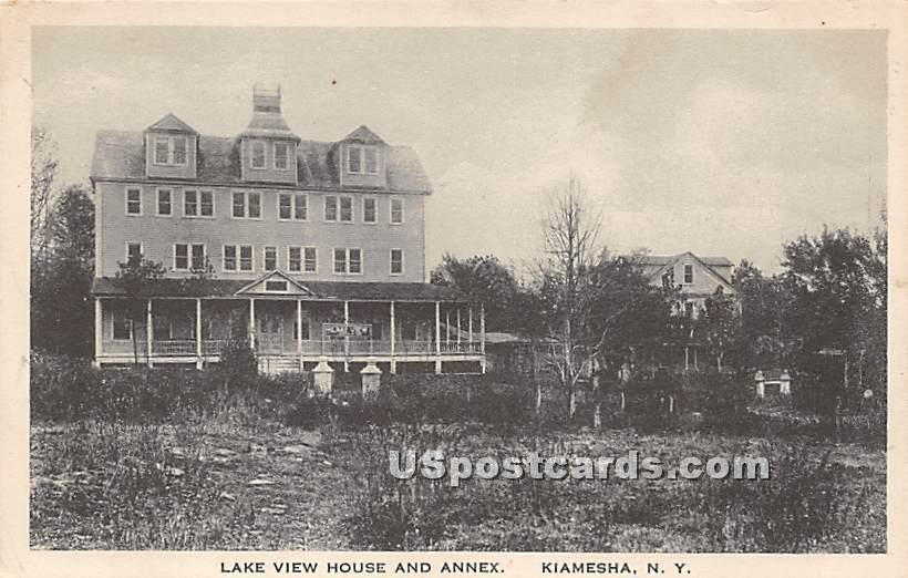 Lake View House and Annex - Kiamesha Lake, New York NY Postcard