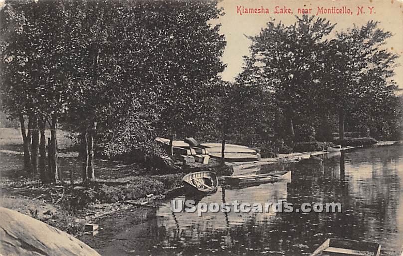 Kiamesha Lake - New York NY Postcard