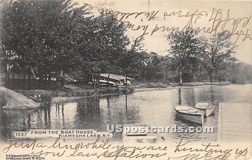View from the Boat House - Kiamesha Lake, New York NY Postcard