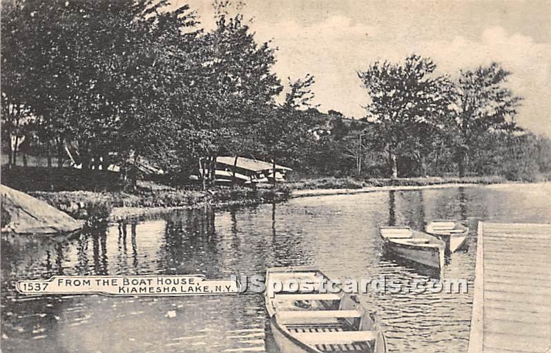 From the Boat House - Kiamesha Lake, New York NY Postcard