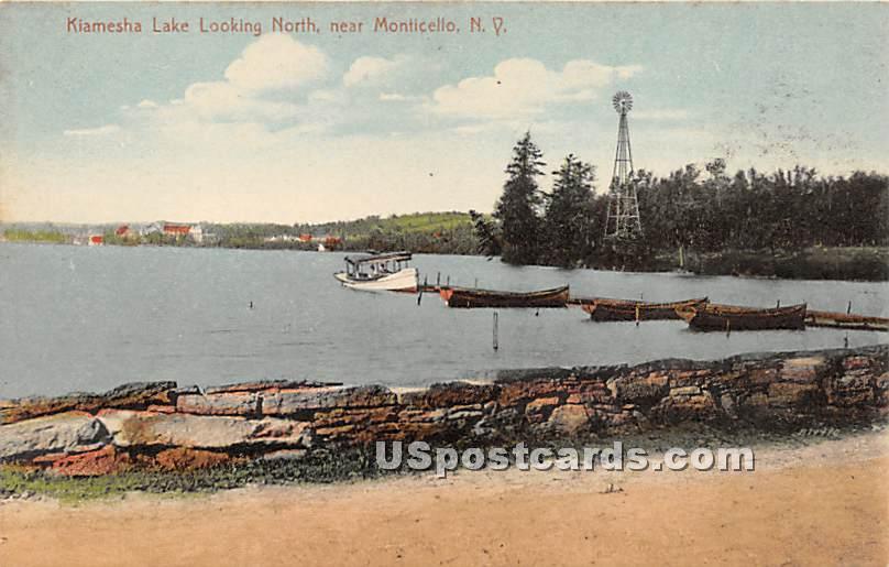 Kiamesha Lake Looking North - New York NY Postcard