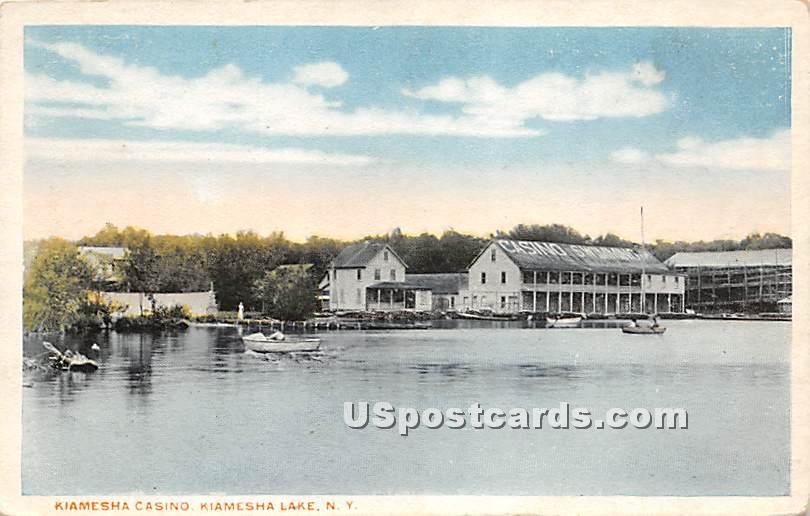 Kiamesha Casino - Kiamesha Lake, New York NY Postcard