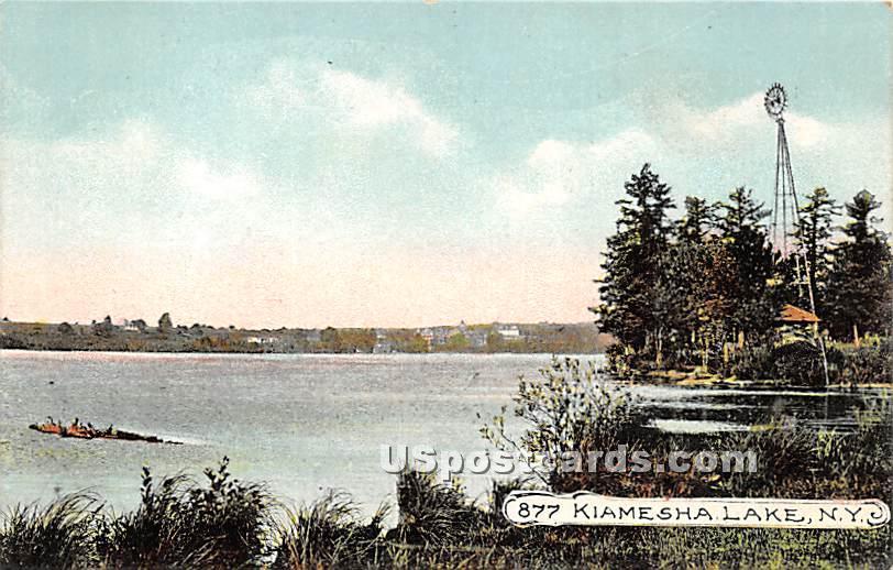 Lake View - Kiamesha Lake, New York NY Postcard