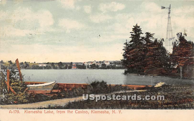 Lake View from the Casino - Kiamesha Lake, New York NY Postcard
