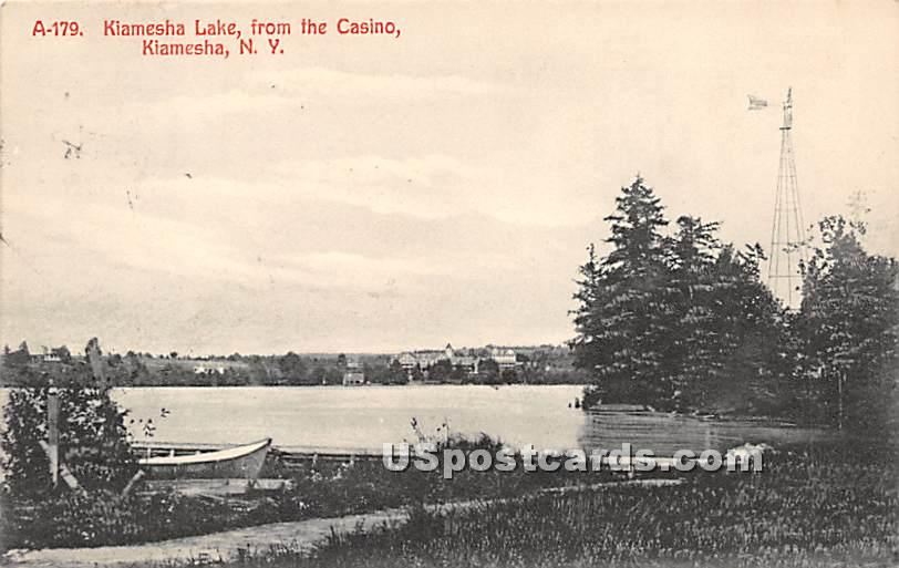 Kiamesha Lake View from the Casino - New York NY Postcard
