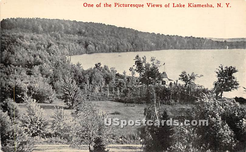 Views of Lake - Kiamesha Lake, New York NY Postcard