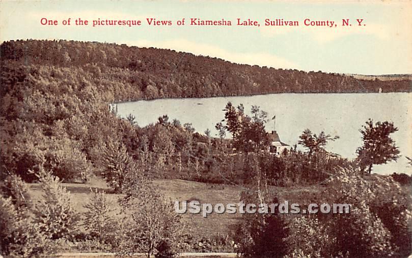 Picturesque View - Kiamesha Lake, New York NY Postcard