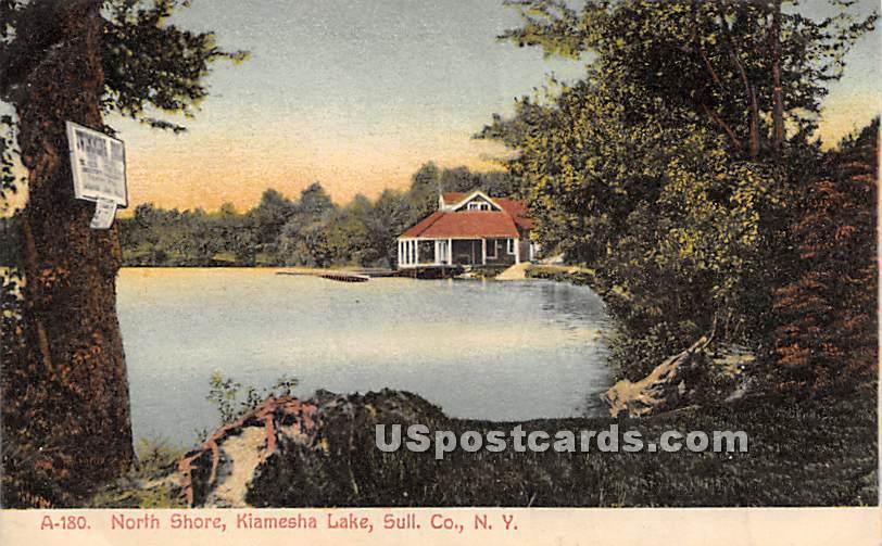 North Shore - Kiamesha Lake, New York NY Postcard