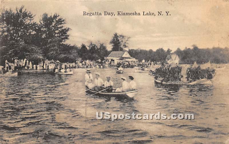 Regatta Day - Kiamesha Lake, New York NY Postcard