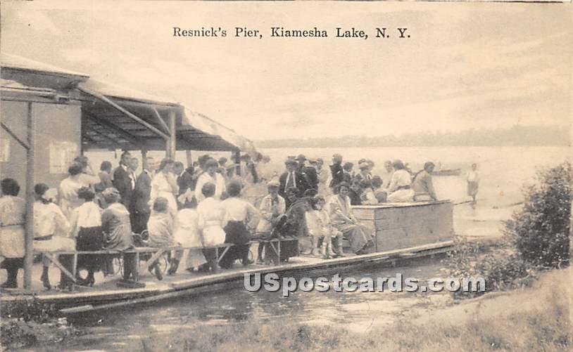 Resnick's Pier - Kiamesha Lake, New York NY Postcard