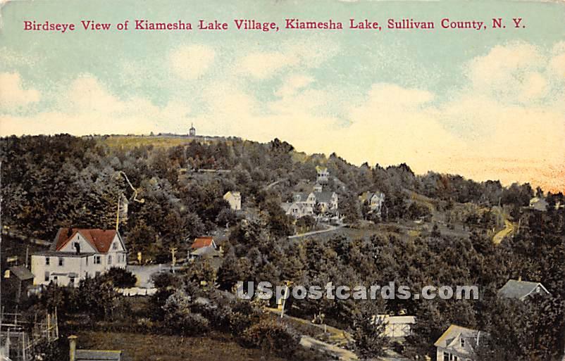 Birds Eye View - Kiamesha Lake, New York NY Postcard