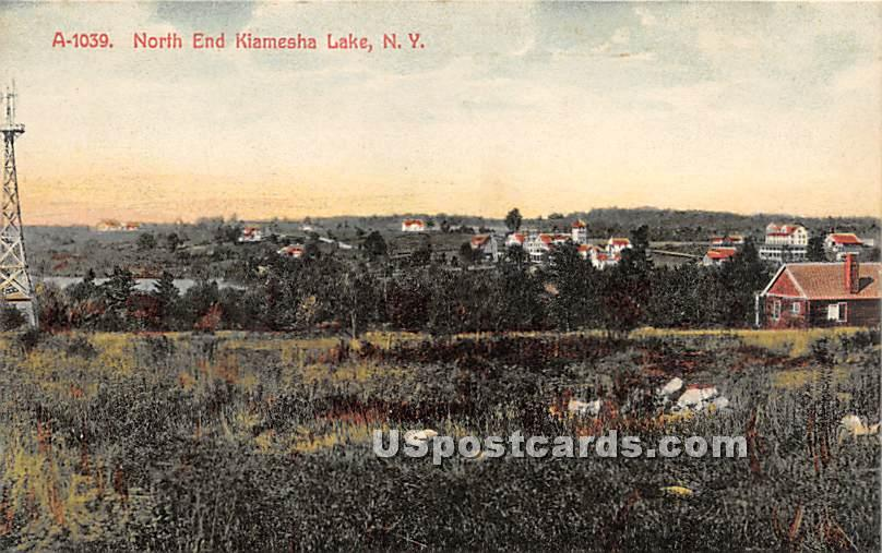 North End - Kiamesha Lake, New York NY Postcard