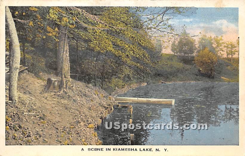 Shore Scene - Kiamesha Lake, New York NY Postcard