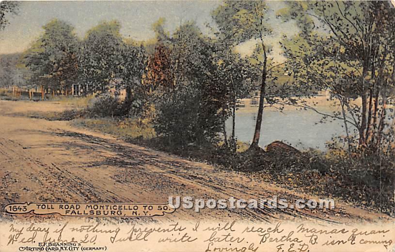 Toll Road - Kiamesha Lake, New York NY Postcard
